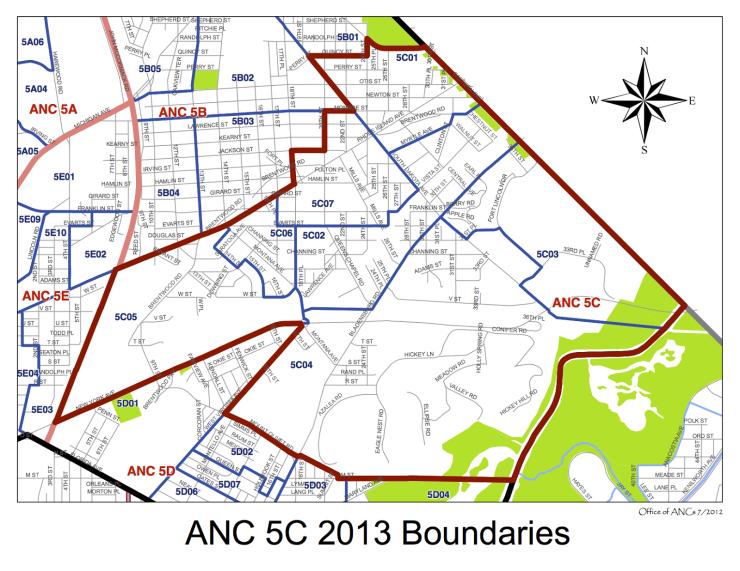Ward5 ANC 5C Boundaries